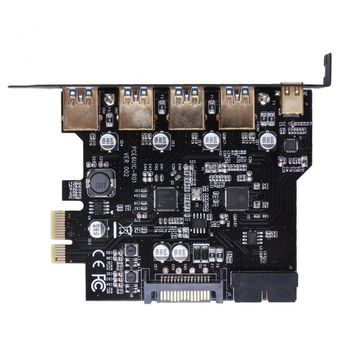 USB 3.0 type-c 4 Порта PCI Express Карты Расширения 19-контактный Разъем Питания для Настольных Пк Супер Скорость до 5 Гбит FW1S
