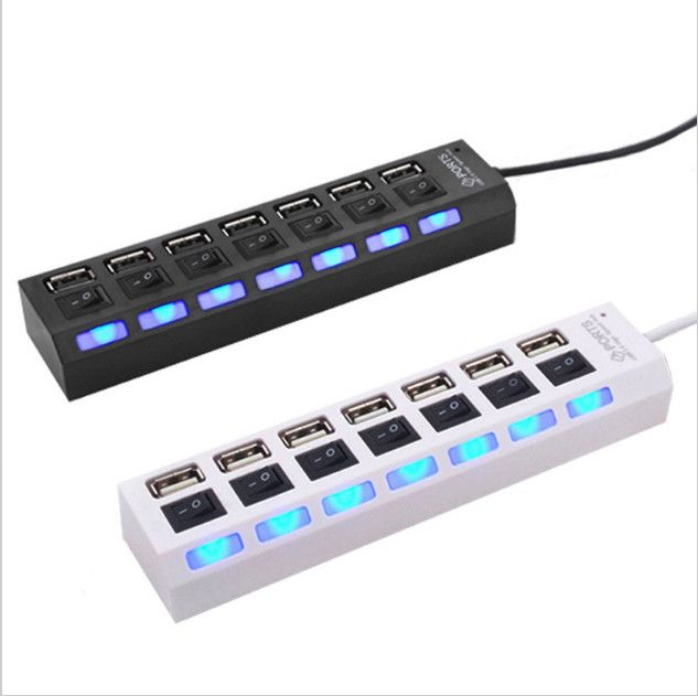 Тонкий Маленький Mini 4 Порт 7 порта USB 2.0 Высокоскоростная Передача Редко USB HUB для Ноутбука PC est