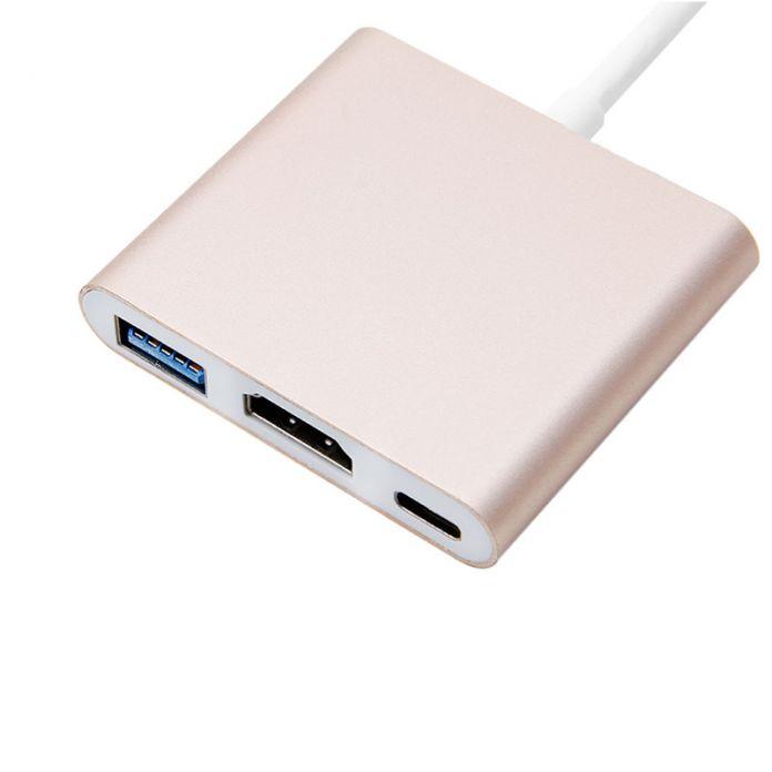 """UBS 3.1 Type-C до 4 К HDMI 3 в 1 Конвертер USB 3.0 КОНЦЕНТРАТОР Адаптер для Macbook 12"""""""