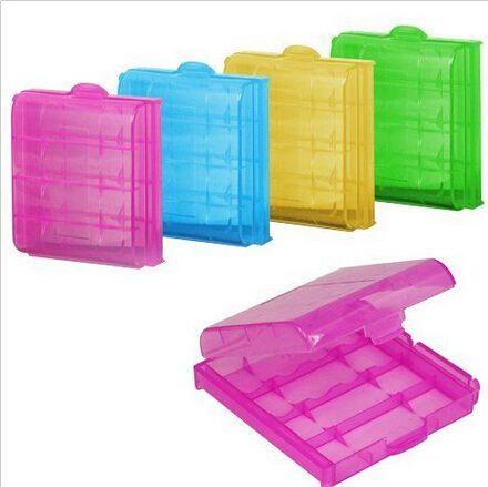 Аккумулятор Ящики Для Хранения Жесткий Пластмассовый Корпус Держатель для Хранения Коробка Для AA AAA Батареи 6.5x6.0x1.7 см 5 цвета