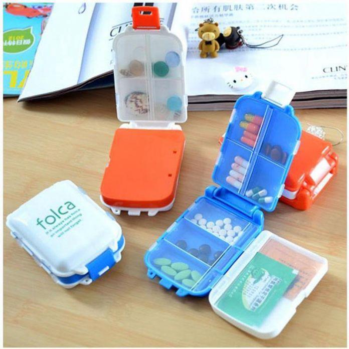Многоцветные Таблетки Складной Витамин Медицина Наркотиками Box Макияж Хранения Дело Контейнер Бесплатная Доставка