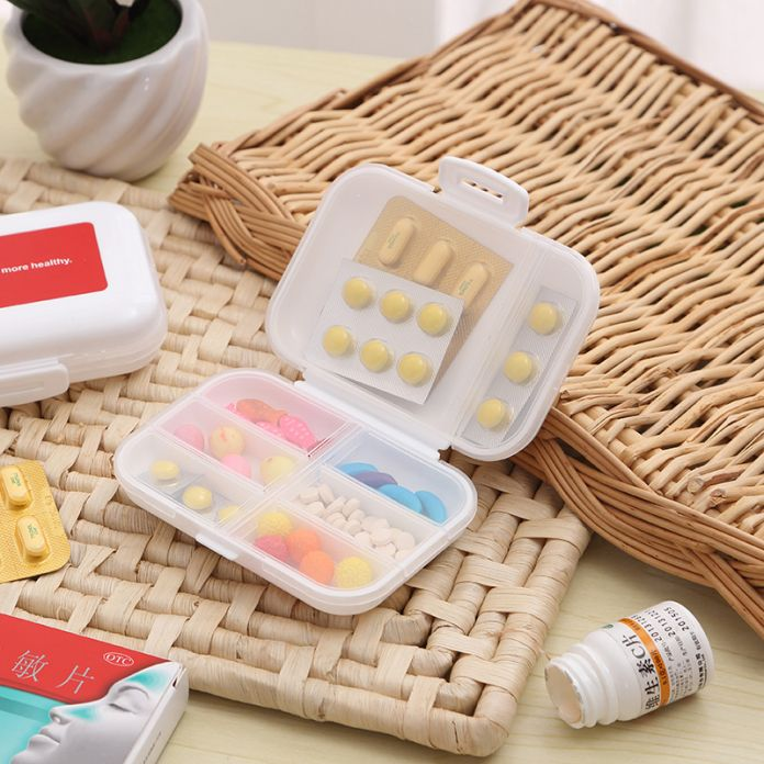 8 Клетки Небольшой Портативный Лекарства Ящики Для Хранения Складной Пластиковый Контейнер Медицины Наркотиков Таблетки Витамина