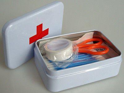 Комплект выживания жестяной крышкой малый пустые серебра металлический ящик для хранения чехол организатор для деньги монета конфеты ключи первой помощи таблетки окно