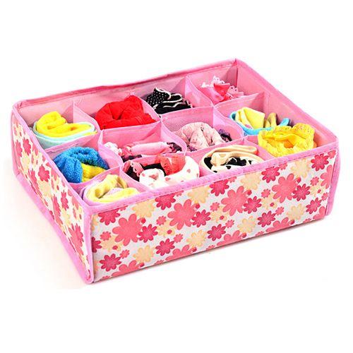 12 клетки носки нижнее белье галстук выдвижной ящик чулан для дома организатор ёмкость коробка чехол 1NGS 63GO