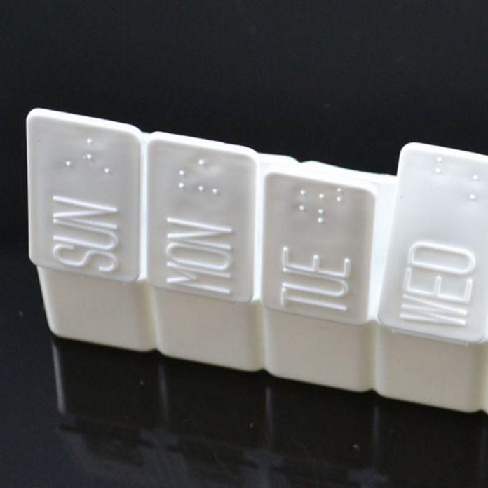 7 дн. еженедельный планшет таблетки держатель белый медицина хранения организатор контейнер