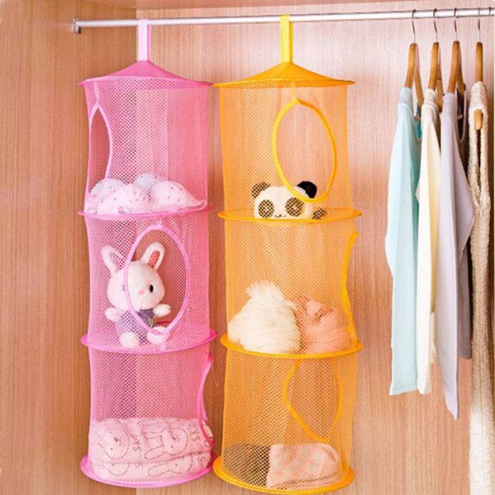 3 Полка Висит Хранения Чистая Детские Игрушки Организатор Мешок Стены Спальни Двери Шкаф Организаторы Корзина для Игрушек