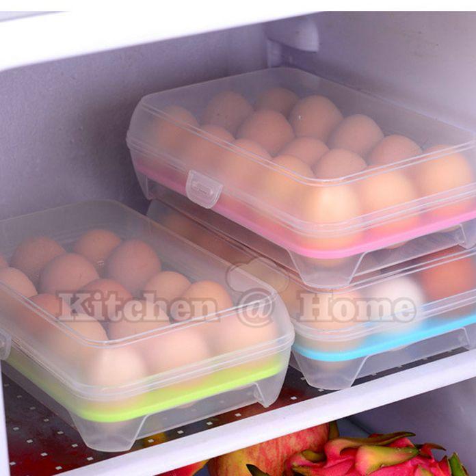 Горячая Продажа 15 Сетка Портативный Яйцо Лоток Холодильник Ящик Для Хранения Контейнеров для Держать Свежих Яиц Кухонные Гаджеты Товары Поставки K403