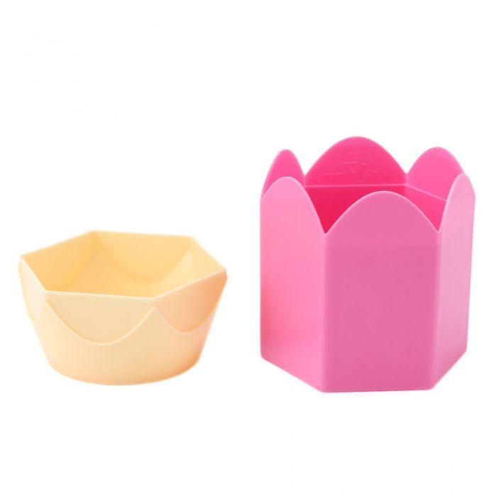 Творческий карандаш форма макияж кисть держатель Box контейнер для хранения стол опрятным организатор канцелярия рабочего аксессуары