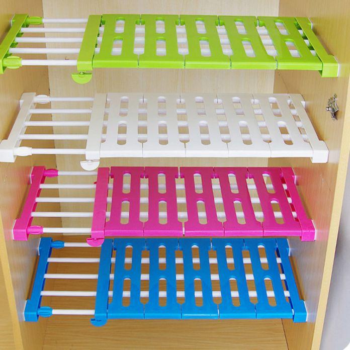 Кухня организатор шкаф хранения слоистых сепаратор обновления кухонные шкафы масштабируемой перегородки полки Полки ногтей Бесплатно