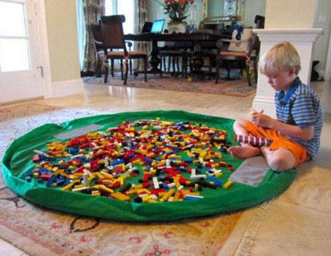 Портативный Дети Дети Младенческой Ребенка Играть Мат Большие Сумки Хранения Игрушки Организатор Одеяло Коврик Боксы для Lego Игрушки