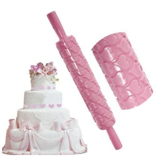 Супер Скалка Фондант Торт Sugarcraft Тиснением Украшения Mold Gum Paste Инструменты