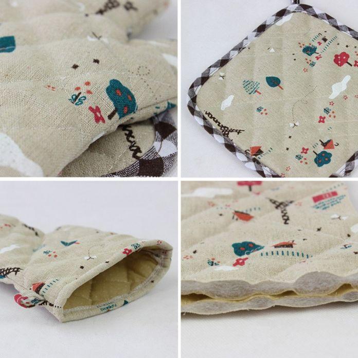 Модный Hot 2 шт./компл. кухонные перчатки микроволновая печь барбекю кулинария перчатки кухонные принадлежности рукавицы кулинария гаджет хаки