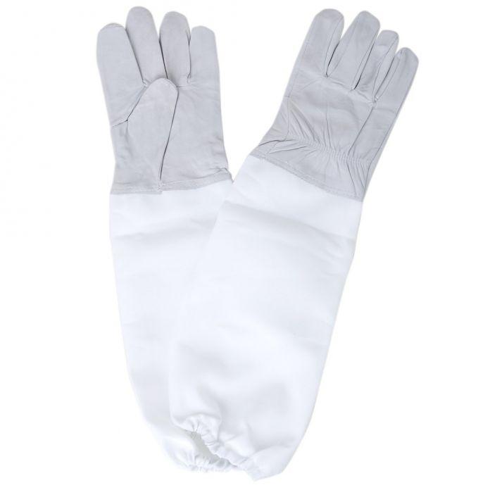 Кол-во продаж 1 Пара перчаток с Защитные Рукава вентилируемые Профессиональный Анти Пчела для Пчеловодства Пчеловод-Черный и Белый