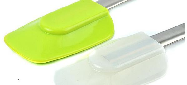 1 шт. экологичные нержавеющей стали ручка силиконовые шпатель для торта скребок кондитерские принадлежности отделочных работ WD-10169