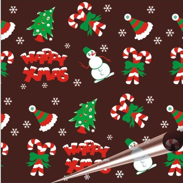 """2015 Новый Рождество Шоколад в chocolateria Передача Лист 10 листов в упаковке Каждый лист 8.07 """"x 12.6"""""""