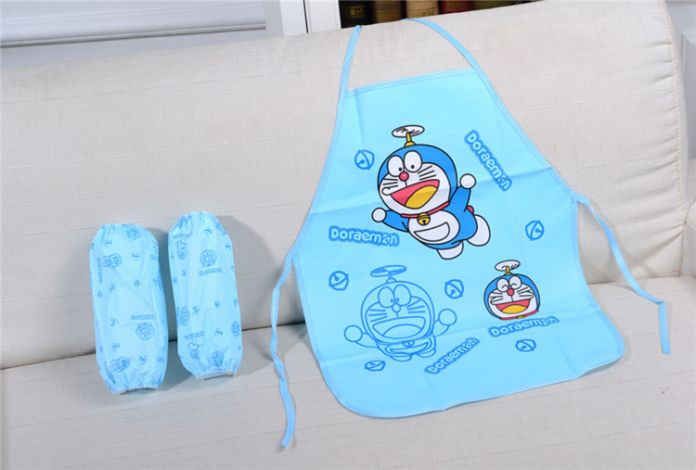 Мультфильм корейской привет китти / bule кошка милый ребенок дети фартук кухонный гарнитур искусство выпечки живопись передник + втулки рукоятки пэ водонепроницаемый
