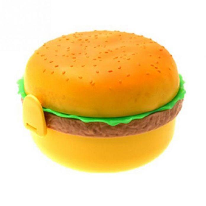 Высокое Качество Пластиковых Супер Симпатичные Гамбургер Форма Lunch Box 3 Слоя Замечательный Подарок для Ребенка Бесплатная Доставка