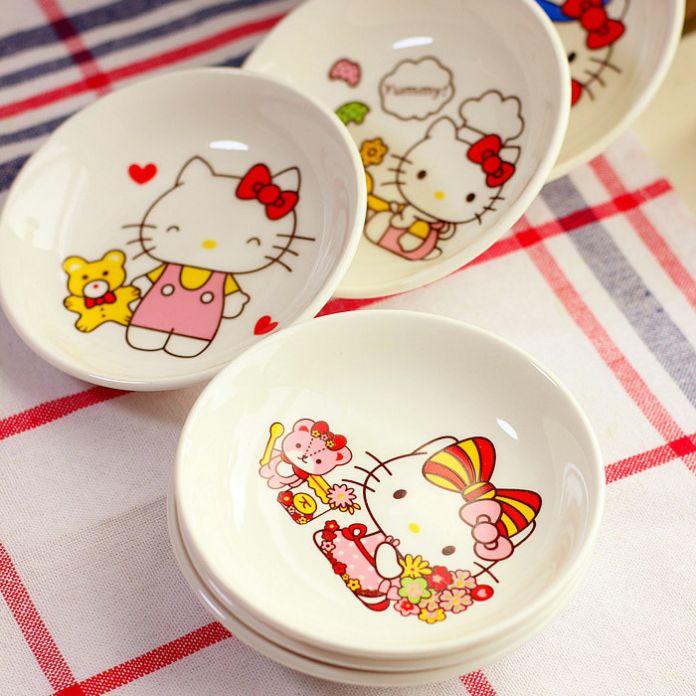 1 Шт. Cute Kitty Cat Керамические Приправы Соус Блюдо Закуски блюдо Приправы Тарелочки Для Томатный Соус Соль и Уксус специи