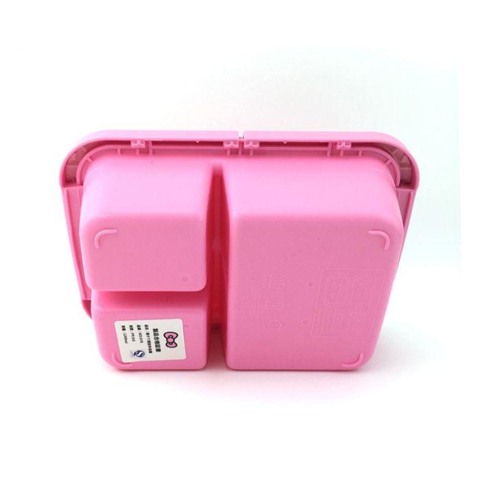 Магия Кухни Япония стиль Запечатаны Коробка Обеда с прекрасный розовый hello kitty деление сетки Bento Box Для Девочек Подарочные