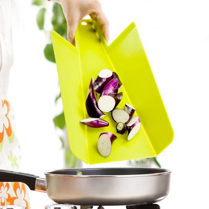 Кухня Пластиковые Гибкие Складные Измельчения Нарезки Нескользящим Разделочная Доска Мат, складные Разделочная Доска Пластиковые Портативный Лопатой Модель
