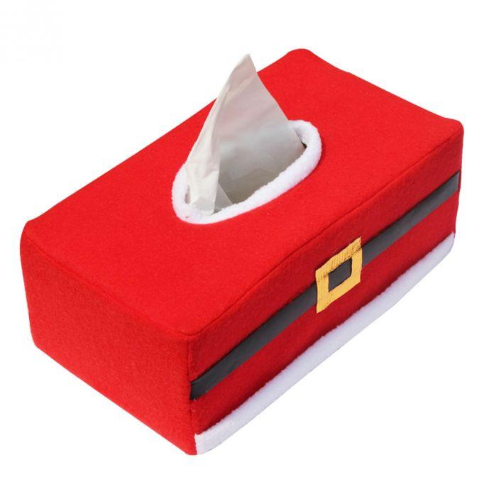 Рождество Стиль Санта-Клаус Пояса Чувствовал Tissue Box Дело Держатель украшения дома старинные Творческий салфетка держатель для бумажных полотенец