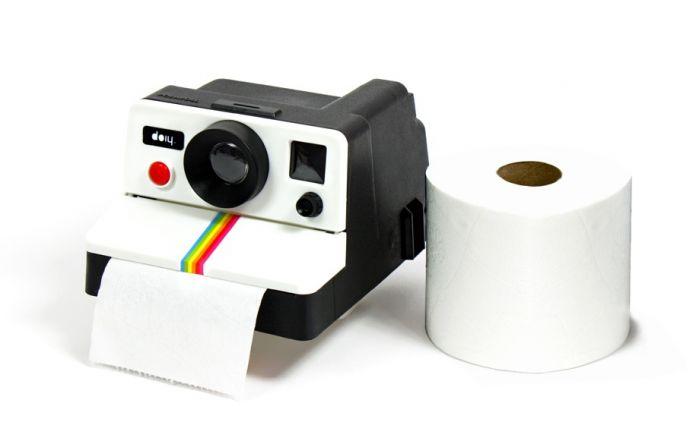 Бесплатная Доставка 1 Шт Ретро Polaroid Камера Формы Рулон Туалетной Бумаги Коробка/Камеры Туалетной Бумаги, Держатель