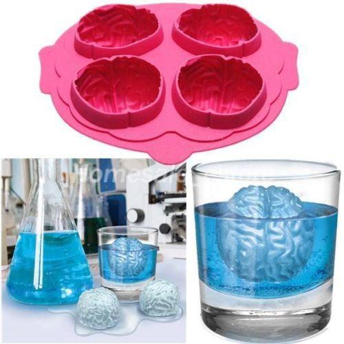 Бесплатная доставка мозг 3D форма силиконовые формы торт инструменты резак льда формы крем пресс-форм для приготовления пищи инструменты