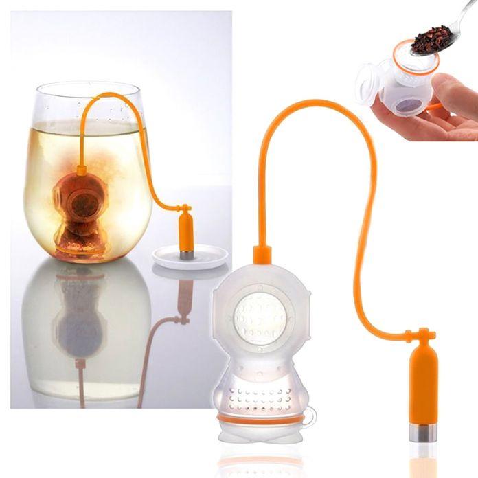 Новый милый заварки чая / ситечко / кофе и чайные сервизы / силиконовые травяные специи фильтр диффузор бесплатная доставка ZH146