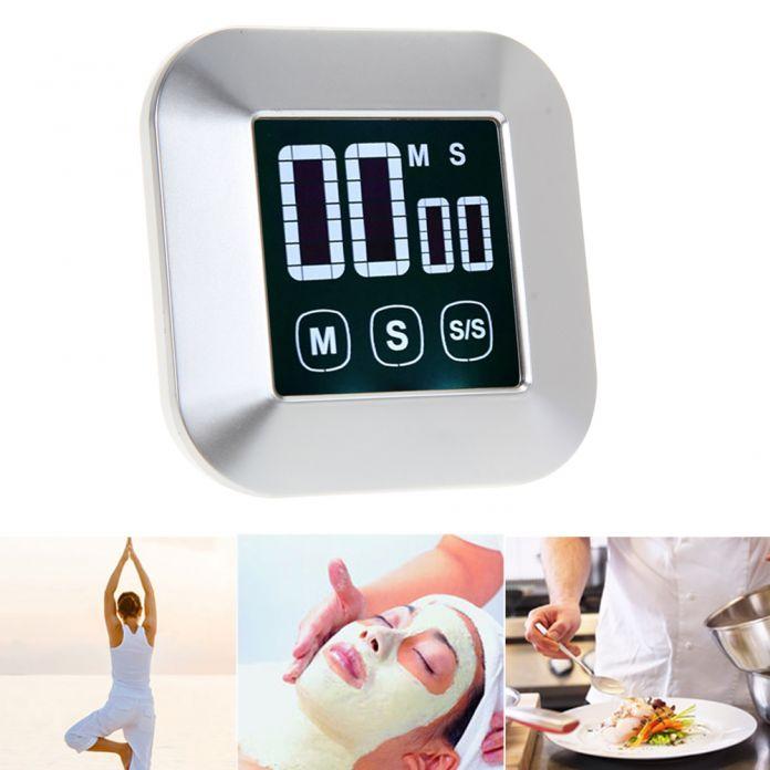 0-99 Минут ABS ЖК-Цифровой Сенсорный Экран Практическая Кухонный Таймер с Подсветкой Кулинария Инструменты Цифровой Таймер Будильник
