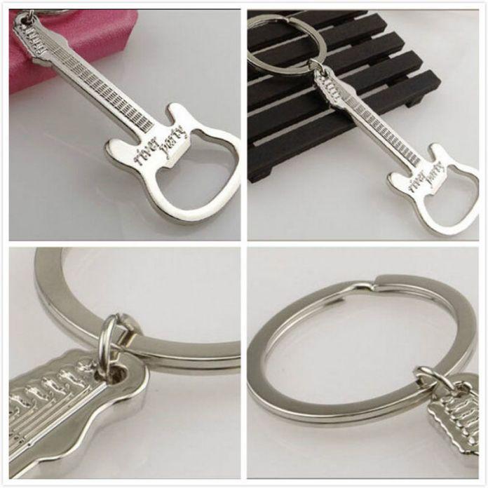 Подарок Сплава Цинка пиво гитара открывалка для бутылок брелок открывалка для бутылок брелок брелок кольцо для ключей