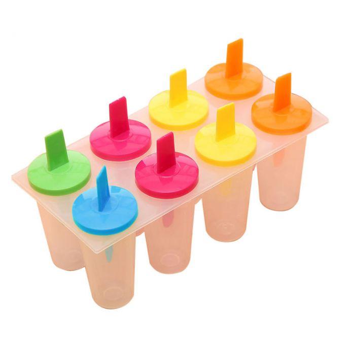 Новое Поступление 8 ШТ. лето DIY Мороженое Поп Плесень Замороженные Ледяной Лед на палочке Icepop Блок Чайник Набор 19.2*9.3*11 см