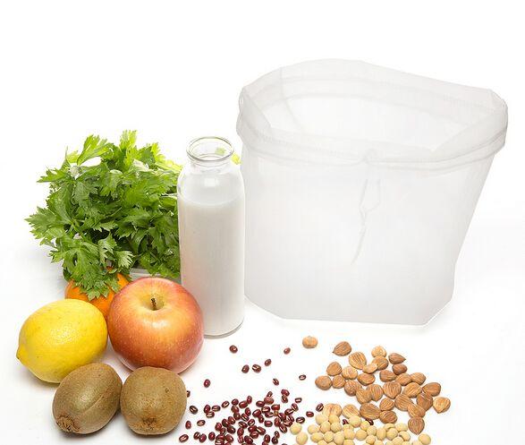 30 X 30 см молоко мешок-пылесборник кухня росток сумка коммерческого класса соки Strainer мешок-пылесборник с верхней ничья строка