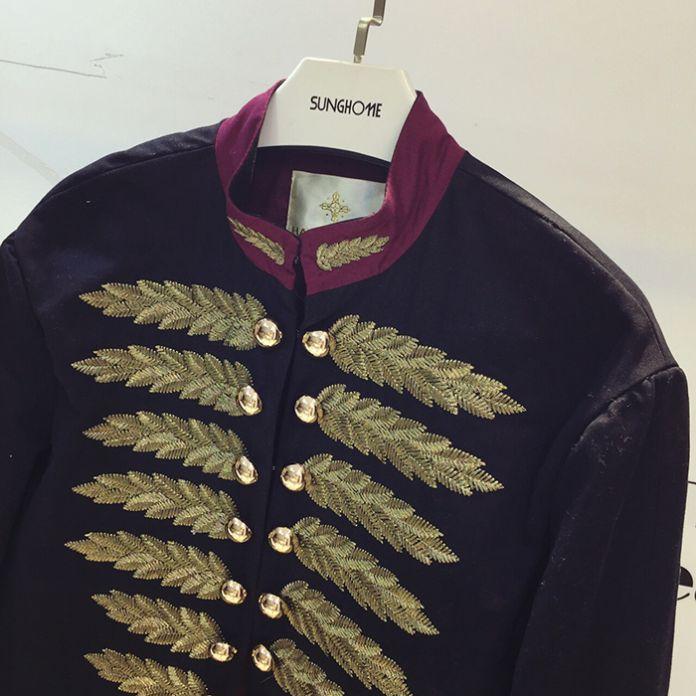 BMJ002 Роскошные двойной брестед куртка пшеницы вышивка куртка/перл бисероплетение куртка/wholesale марка звезда куртка пальто/1 цвет 6 размер