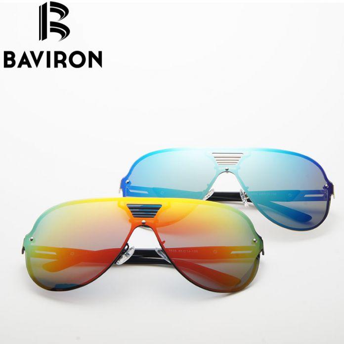BAVIRON Металла Без Оправы Поляризованные Солнцезащитные Очки Градиент Цвета Зеркальные Очки Для Женщин Классические Синие Линзы Стильные Очки 2535