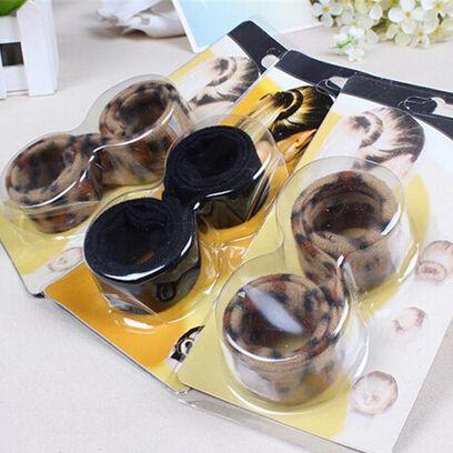 1 шт. мода hairband шпилька Hairagami бун хвост Hairagami мода черный леопард женщины инструменты для укладки