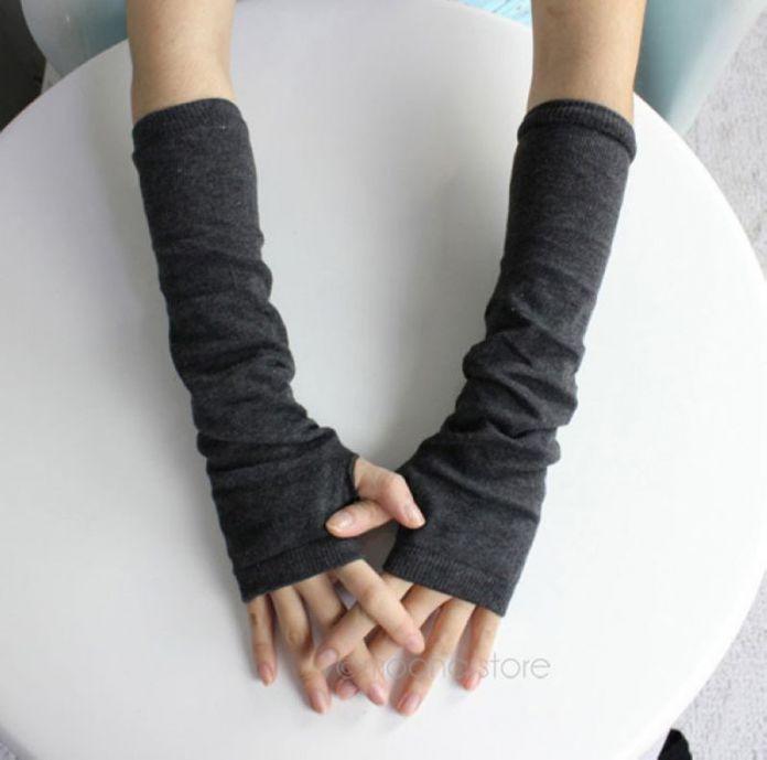 2015 новинка мужская осень / зима личного оружия перчатки вязание крючком вязать лонг эластичный теплые перчатки без пальцев женщины мужчины