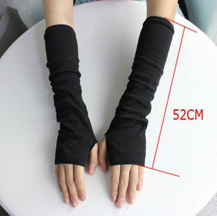 Горячих женщин зима наручные рычаг рука теплая вязаная длинные перчатки без пальцев рукавицы # 012