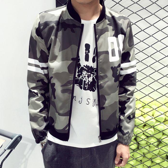 Новый 2016 мода в стиле милитари камуфляж куртка мужчины повседневная тонкий бомбардировщик куртка весте homme мужская одежда плюс размер м-5xl/JK31