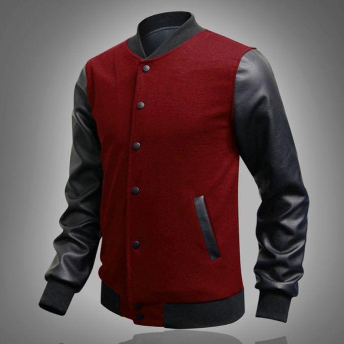 Мужская Одежда Бейсбол Куртка Мужчины Толстовка Колледж Спортивной Куртки Случайных Slim Fit Куртка Мужская Одежда 19