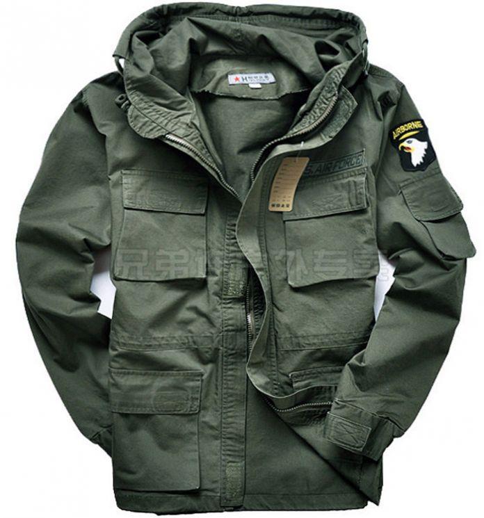 Военная Форма мужская 101 Ввс Плюс Размер Траншеи Тонкая Талия Классический Ватные Куртки Парка Пальто Куртки М ~ 3XL C35C2
