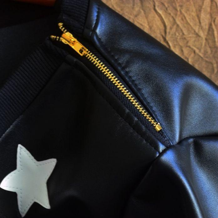 Мужская хип-хоп наборы все кожа PU круглый воротник свободно большой ярдов оказать подкладки верхней одежды локомотив мех руно мужской