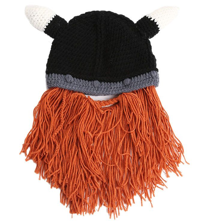 2016 Новый Дизайн Осень и Зима стиль Викинг Шапка Бородатый Шляпа Мило Параболические Шляпы для женщин и мужчин HT51075 + 40