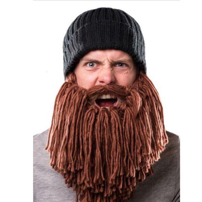 Прохладный взрослых зимняя шапка прохладный полный борода Hallowmas стиль вязание масках теплую шапку