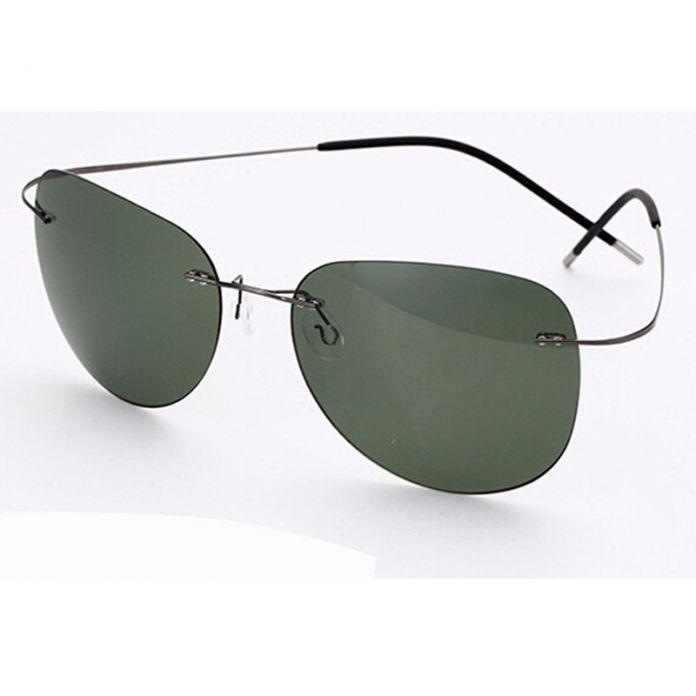 100% Titanium Силуэт солнцезащитные очки Polaroid Polaroid супер Легкий Бренд Дизайнер Оправы Gafas Мужчины Поляризованные Солнцезащитные очки очки