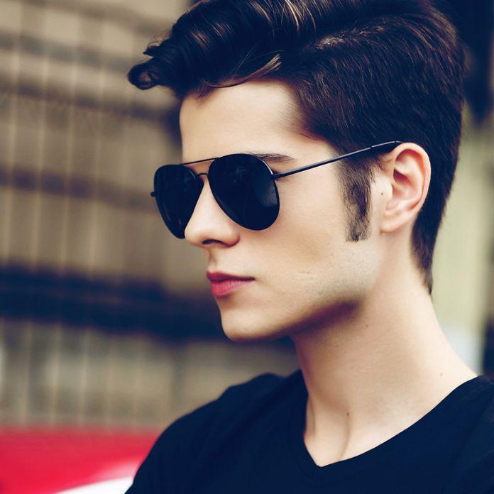 Людей марка дизайнер день и ночного вождения солнцезащитные очки для мужчин поляризованные линзы оттенок покрытие очки ночного видения UV400