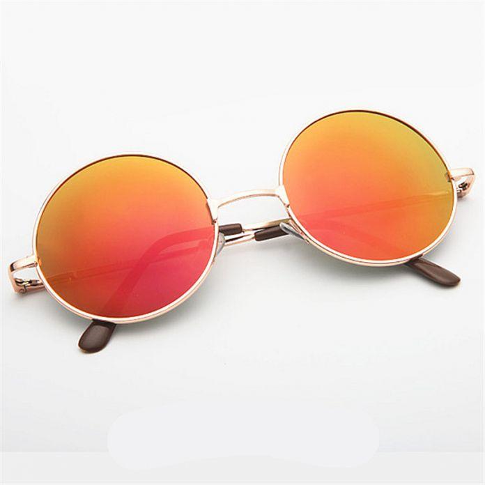 Круглые Солнцезащитные Очки Женщины Мужчины Марка Зеркальные Очки Ретро Женщины Мужчины Солнцезащитные Очки мужские женские