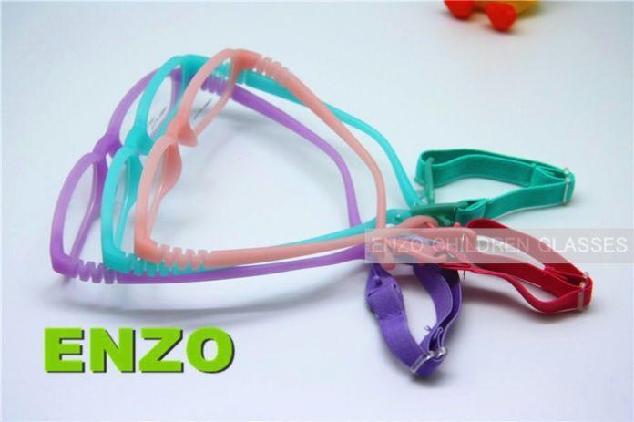 Детские очки на шнурке, размер 47. Цельные детские очки, оправа и ремешок без шурупов. Небьющиеся гибкие очки для мальчиков и девочек