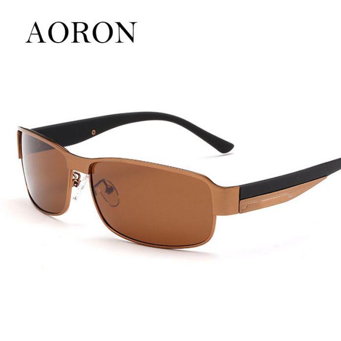 Новый Бренд Aoron Классический Модельер досуг очки поляризованные прохладно солнцезащитные очки мужские сплавов солнцезащитные Очки Очки