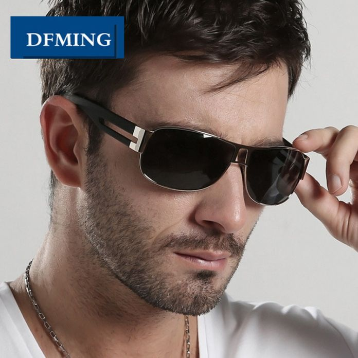 DFMING Мужской бренд солнцезащитные очки мужчины Поляризованных Солнцезащитных очков Вождения очки марка очки очки для мужчин солнцезащитные очки Поляризованные линзы