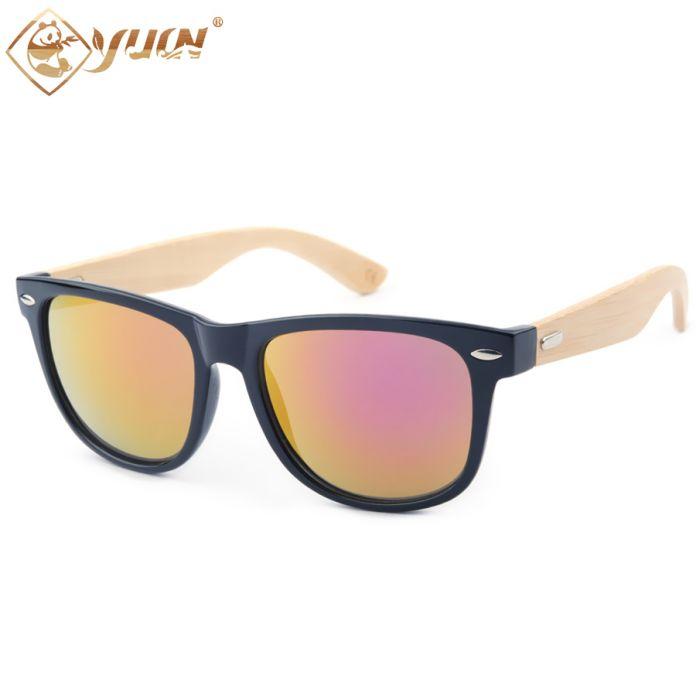 Новый горячий дешевые бамбука солнцезащитные очки ручной работы из бамбука деревянные очки дизайн бренда солнцезащитные очки для мужчин женщин логотип доступны